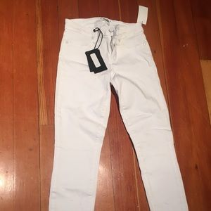 Paige White Verdugo Crop Skinny Jeans 26 NWT